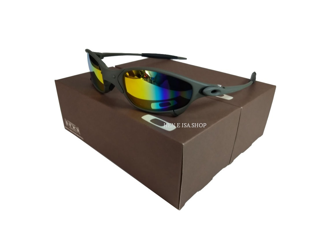 Oculos Oakley Juliet Arco-íris + Certificado+teste+chaves - R  92,00 ... 2d9463ea6b