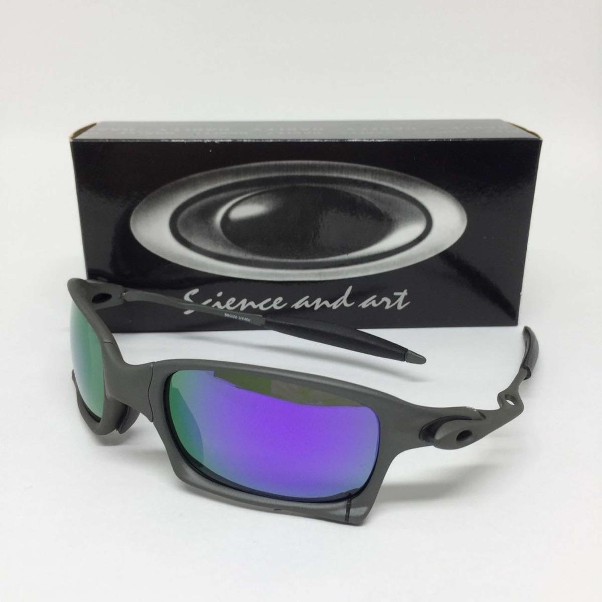 Oculos Oakley Juliet Squared Xmetal Lente Roxa Polarizadas - R  159 ... 4523eef5b2