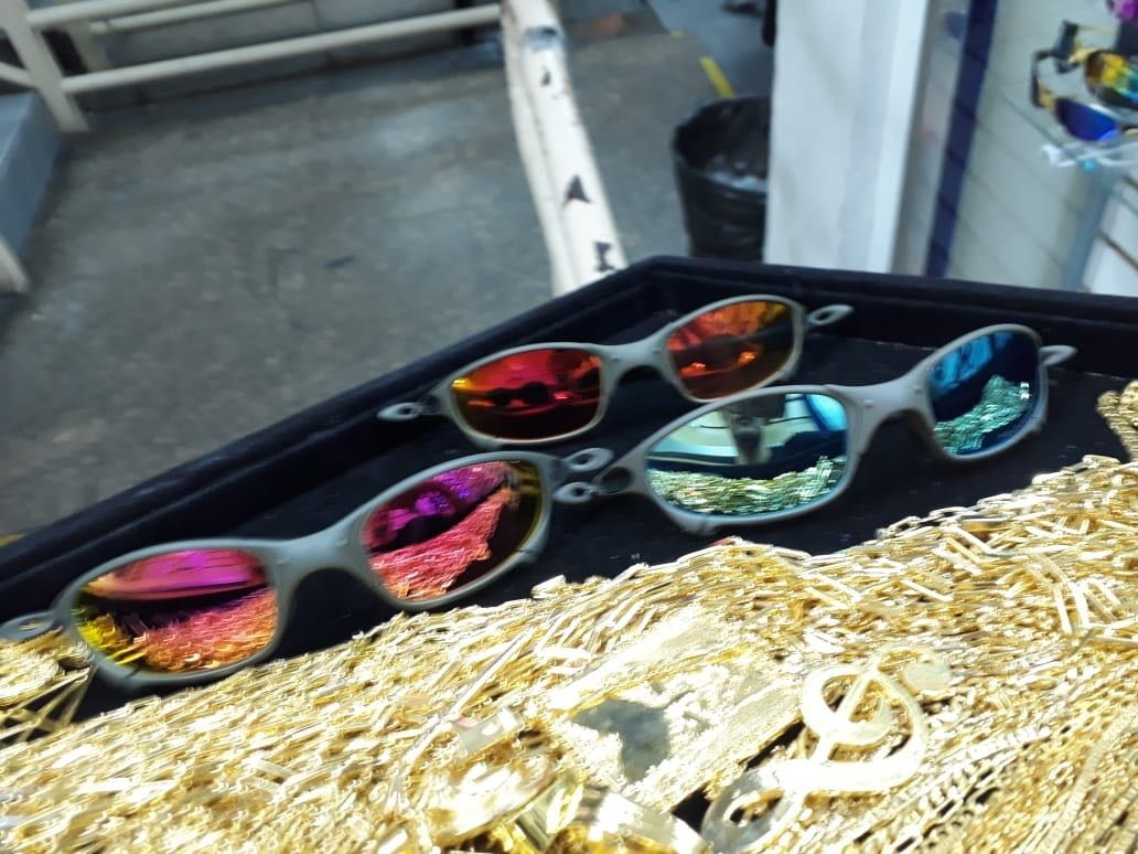 fcb4ae0fe7a58 Oculos Oakley Double X Juliet Polarizado Gold Original - R  149