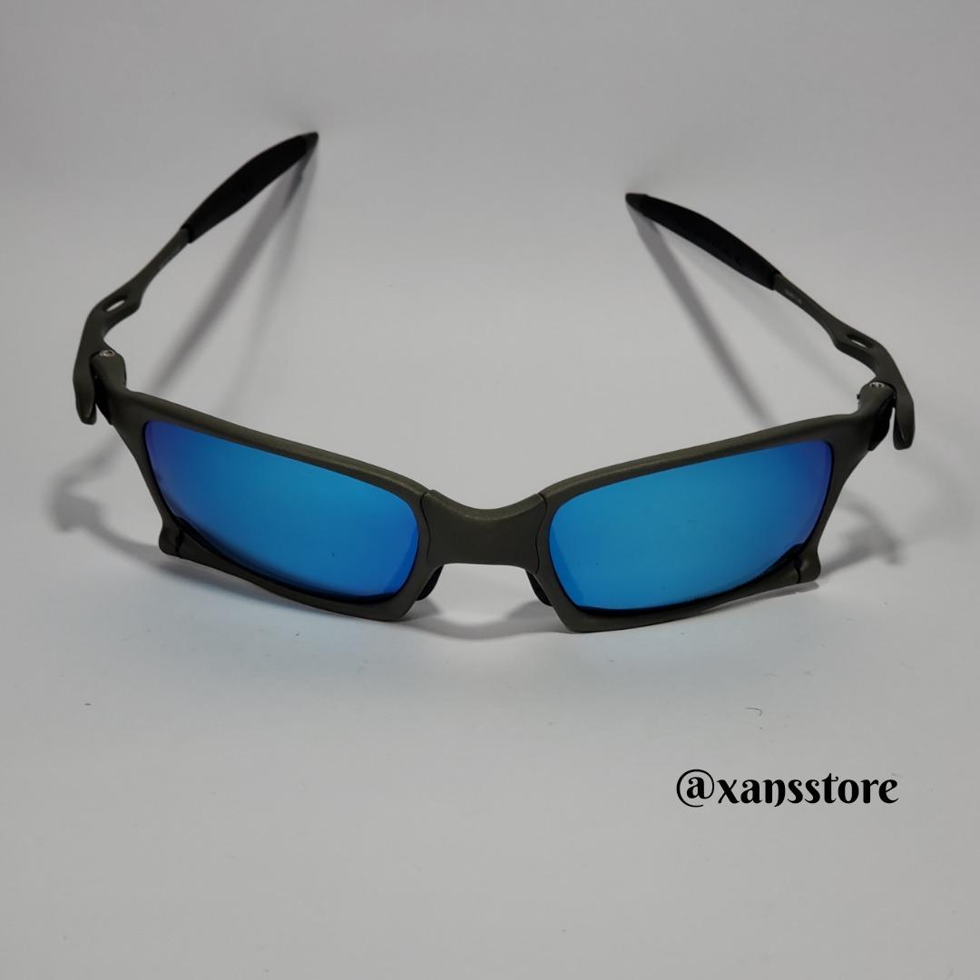 0020ef75166ec Oculos Oakley Juliet Squared Azul - R  120