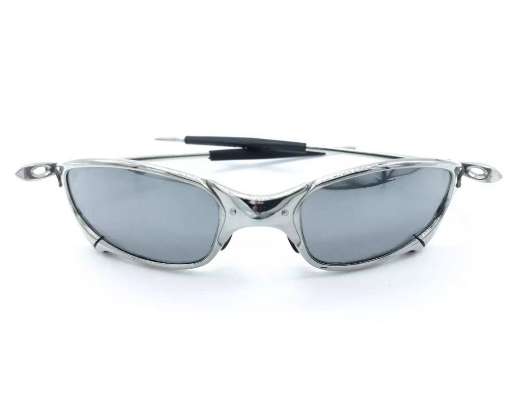 4cb64239ba4c5 Oculos Oakley Juliet Cinza Preta Cromada Polarizada Metal!!! - R  139,00 em  Mercado Livre