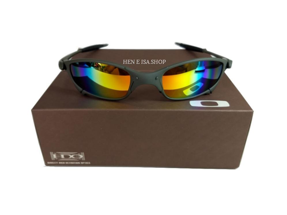 78181c57e31ad oculos oakley juliet arco-íris + certificado+teste+chaves. Carregando zoom.
