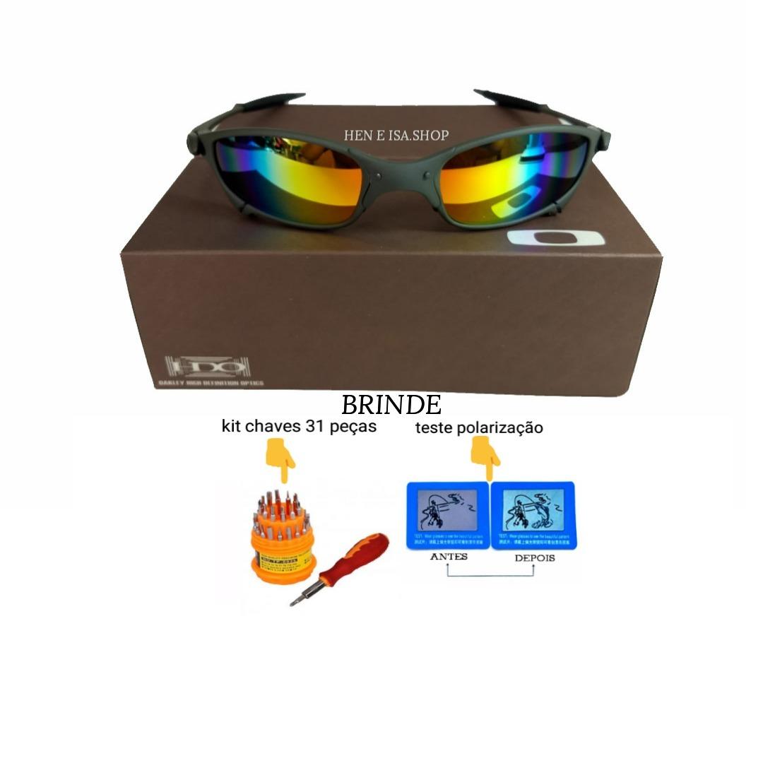 e94c1e3e23adf oculos oakley juliet arco-íris + certificado+teste+chaves. Carregando zoom.