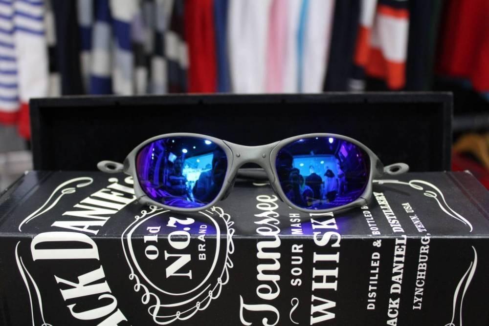 fbc0f9ae615be óculos oakley juliet azul 24k double x polarizad original. Carregando zoom.
