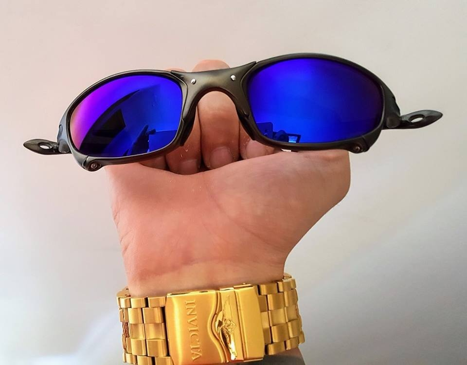 787790aea239d Oculos Oakley Juliet Azul 24kx Squared - R  120,00 em Mercado Livre