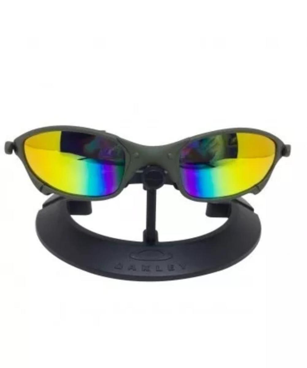 Oculos Oakley Juliet Cinza Chumbo Polarizado Metal Promoção - R  120 ... f40e0743f3d