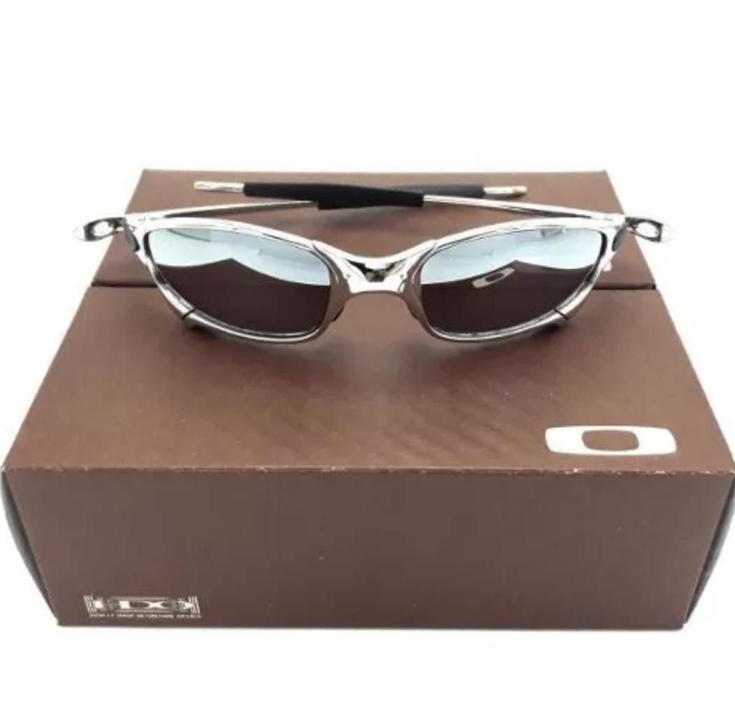 66499bfb75931 Oculos Oakley Juliet Cinza Preta Cromada Polarizada Metal!!! - R ...