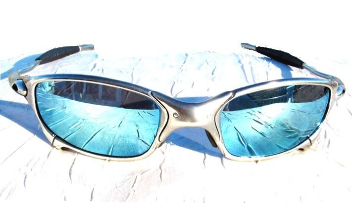 df702d0b0 Óculos Oakley Juliet Cromado Polarized + Lente Brinde - R$ 139,00 em ...