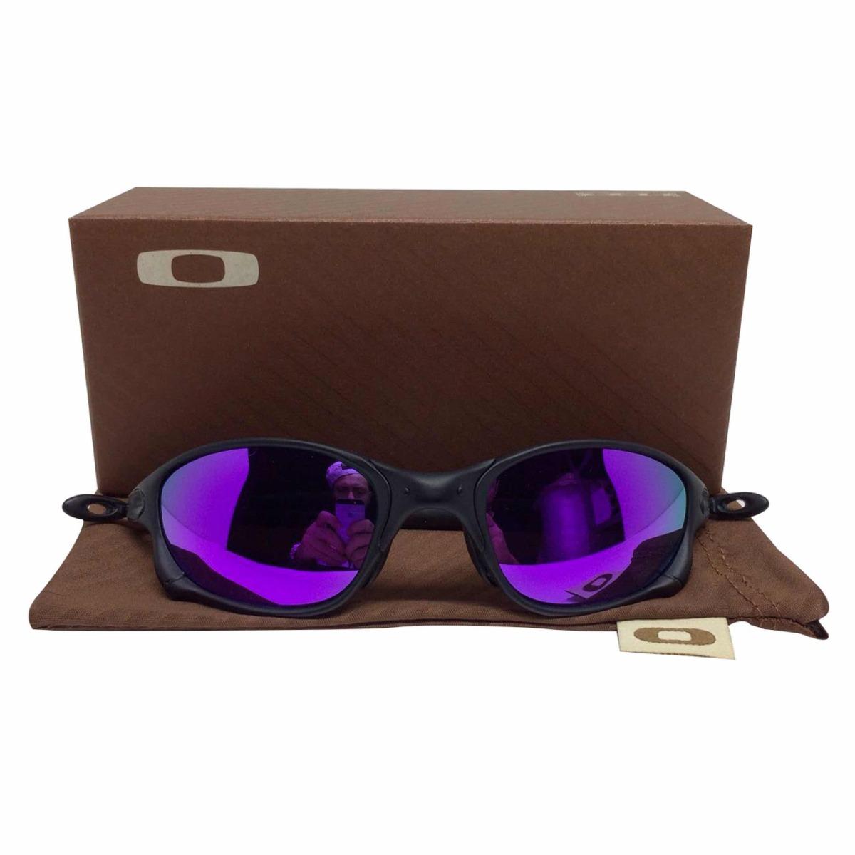 oculos oakley juliet doublex black lente roxa polarizadas. Carregando zoom. 91fa741148
