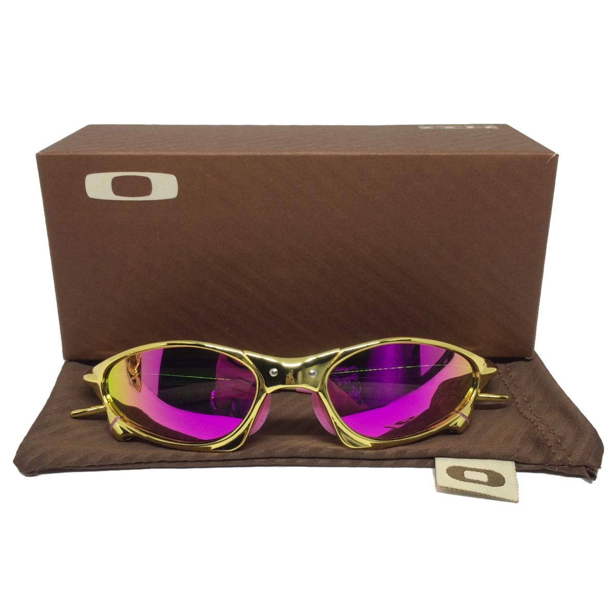 daddc6382183f óculos oakley juliet gold 24k lente rosa mega promoção. Carregando zoom.