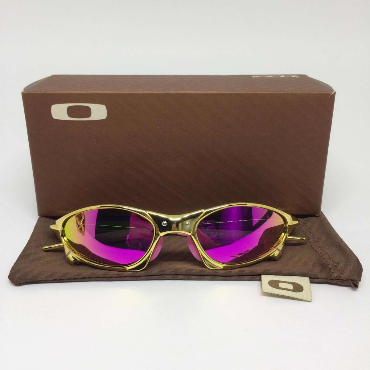 9ec1a1fbcc19e oculos oakley juliet penny gold lente rosa polarizadas. Carregando zoom.