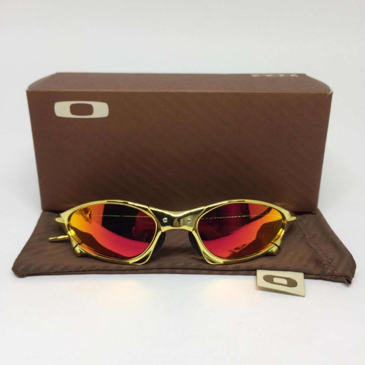 89fb356c6 Oculos Oakley Juliet Penny Gold Lente Vermelha Polarizada - R$ 185 ...
