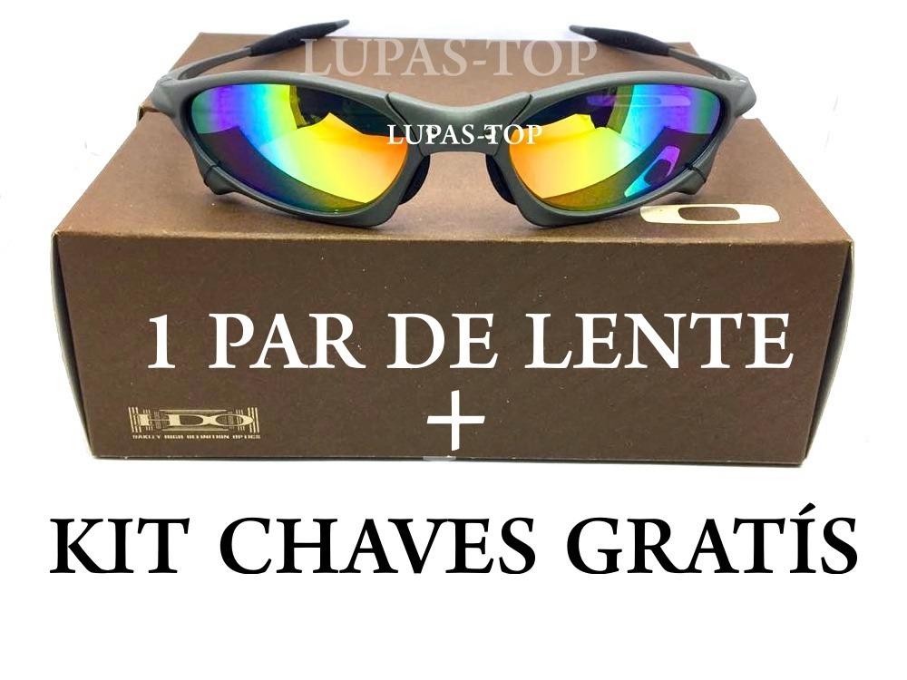 1f020ea449 óculos oakley juliet penny xmetal arco íris+ lente+ kit chav. Carregando  zoom.