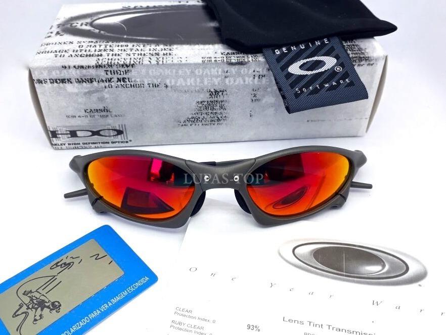 134948ed8cda6 óculos oakley juliet penny xmetal fire red 100% polarizada ! Carregando  zoom.