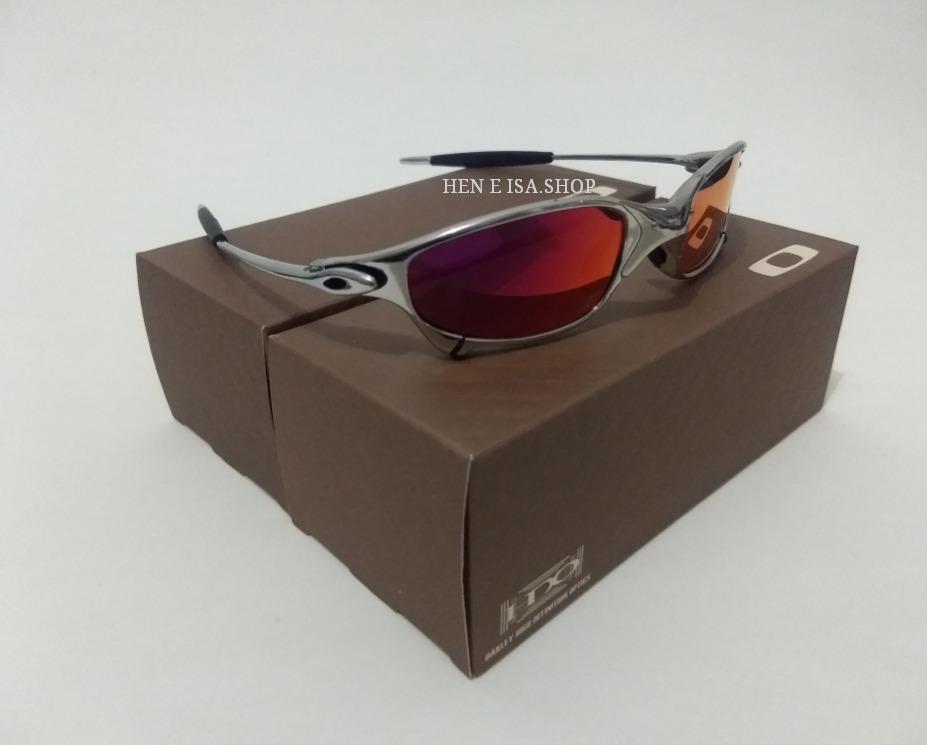 1b63e315de3da Oculos Oakley Juliet Platinum Ruby +teste + Certificado - R  82,00 em  Mercado Livre