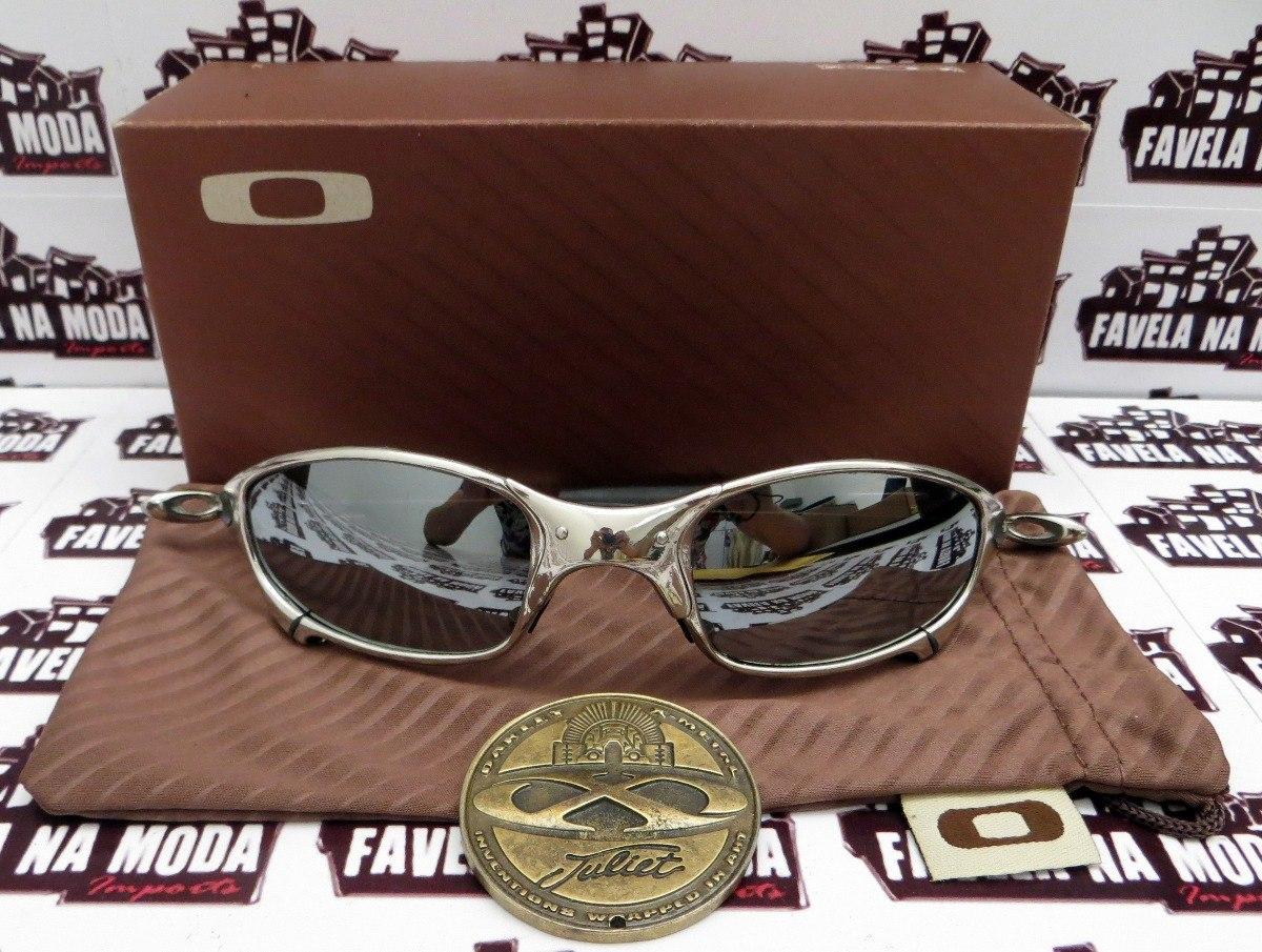 óculos oakley juliet  polished  liquid metal + par de lentes. Carregando  zoom. b8e2e11991