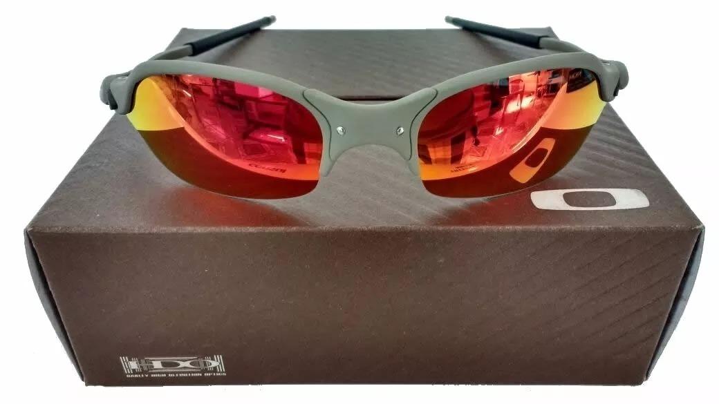 55c233fb7e96d Oculos Oakley Juliet Romeo 2 X Metal Lente Ruby Polarizadas - R  120 ...