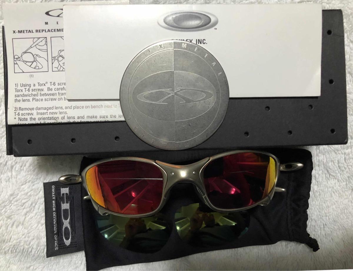 19105c26f oculos oakley juliet ruby titanium xmetal original raro ost. Carregando zoom .