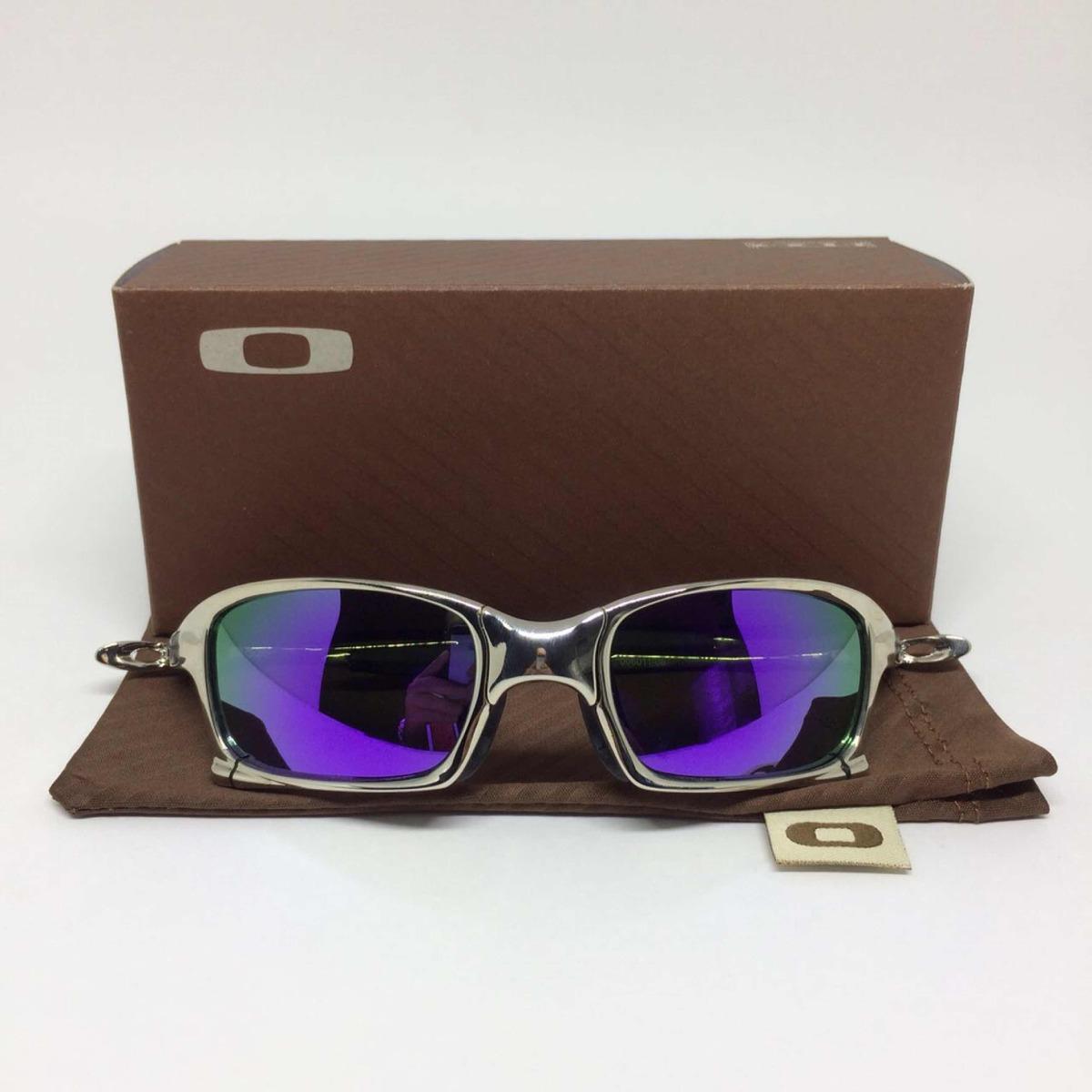 228f674672638 oculos oakley juliet squared armação prata lente roxa. Carregando zoom.