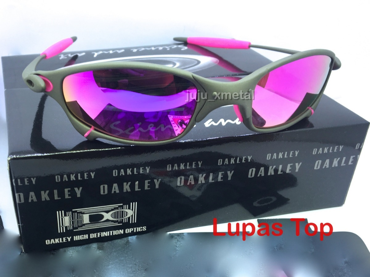 e4cd1abac Oculos Oakley Juliet X Metal Lentes E Borrachas Rosas Pink - R$ 139 ...