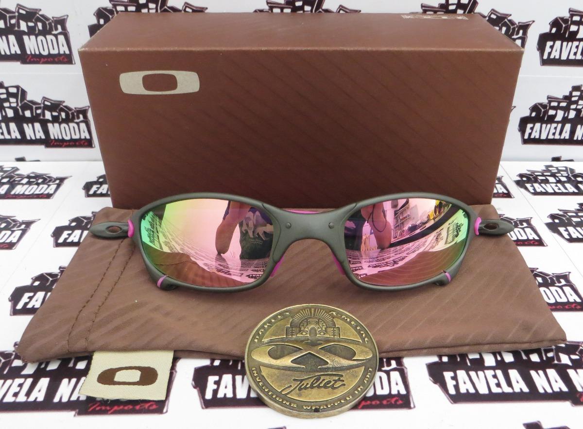 800d588863d3d Óculos Oakley Juliet   X-metal   Pink + Par De Lentes - R  179