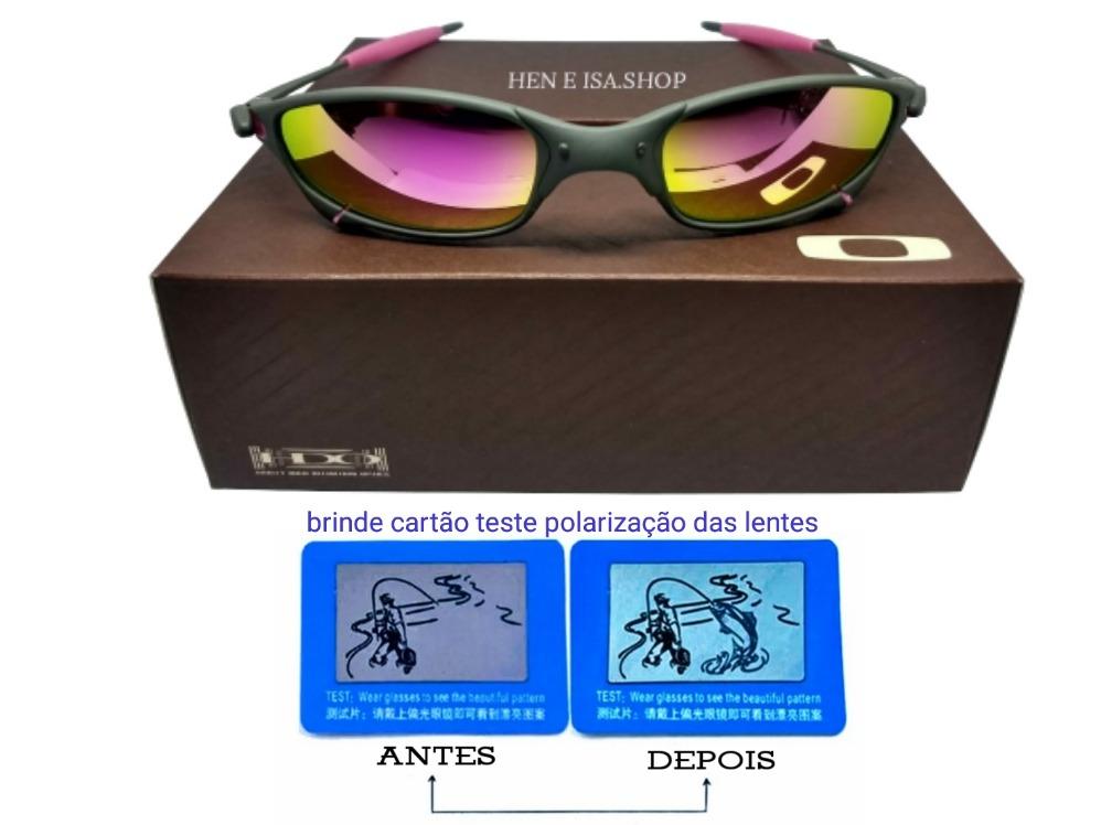 91c93081a Oculos Oakley Juliet X-metal Rosa +certificado+teste 12x - R$ 84,99 ...