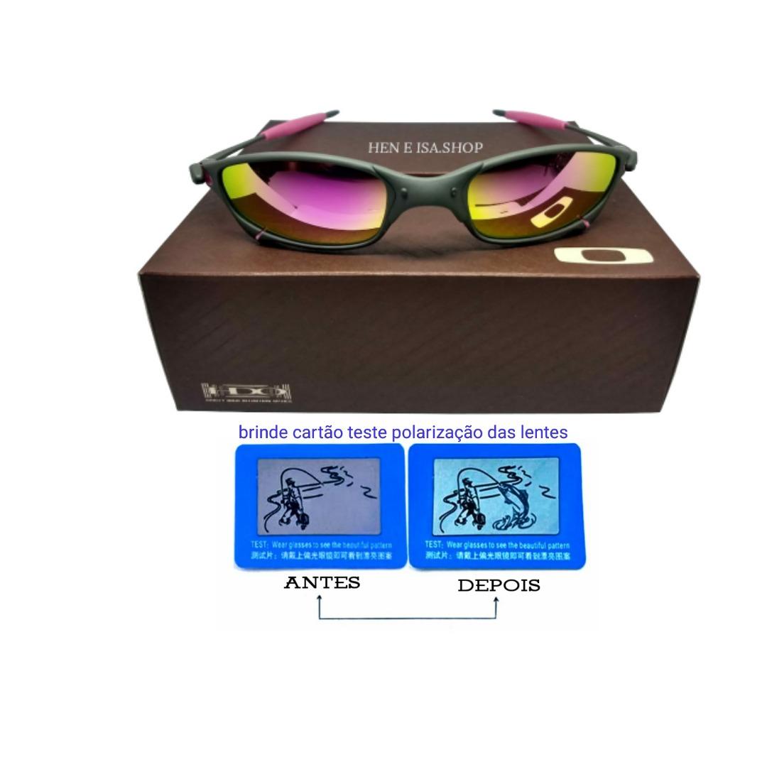 66e2c51a3908c oculos oakley juliet x-metal rosa +certificado+teste+frete. Carregando zoom.