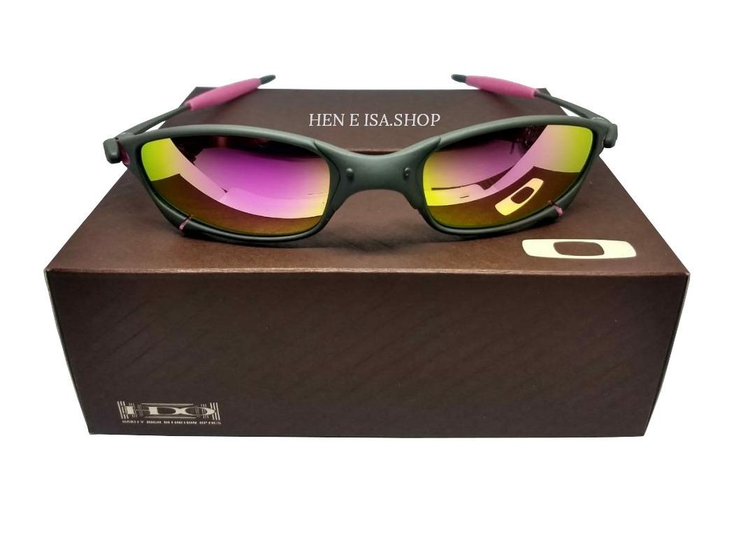 ad6162517 Oculos Oakley Juliet X-metal Rosa + Saquinho + Caixa Oakley - R$ 69 ...
