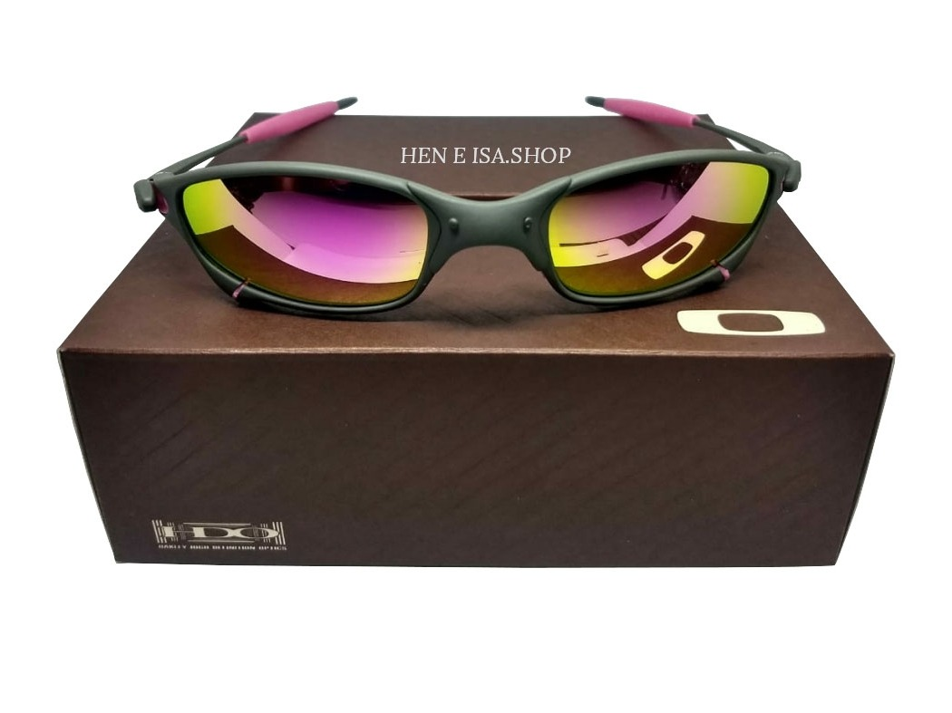 a59447656 Oculos Oakley Juliet X-metal Rosa + Saquinho + Caixa Oakley - R$ 82 ...