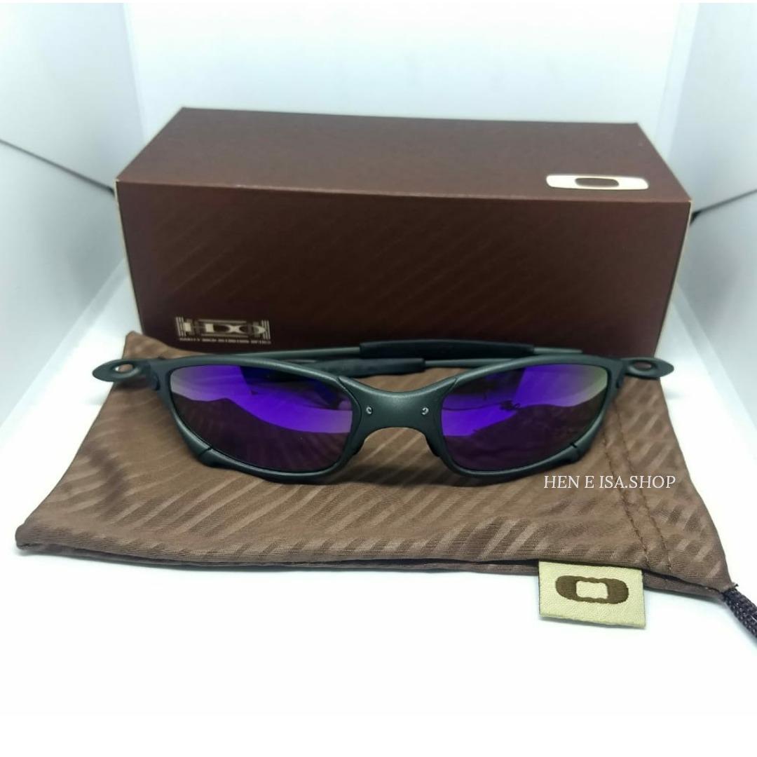 33f2253d4 oculos oakley juliet x-metal roxa + teste + certificado. Carregando zoom.
