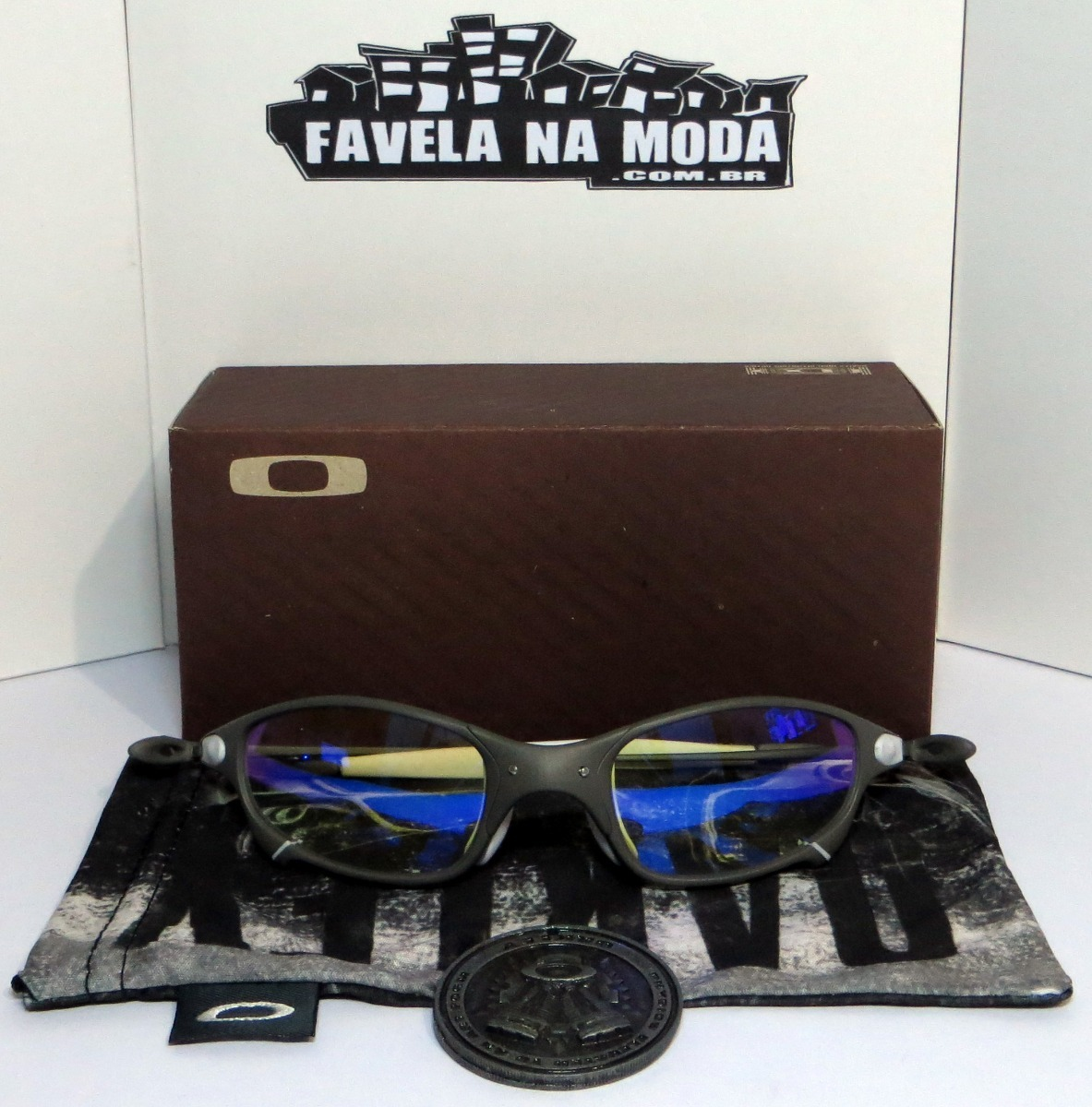óculos oakley juliet   xmetal   clear azul   branco + lentes. Carregando  zoom. 5152002cca