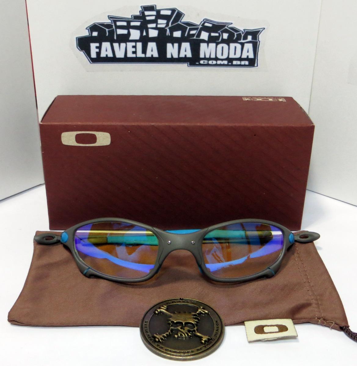 óculos oakley juliet   xmetal   clear azul + par de lentes. Carregando zoom. 3e99ded65b