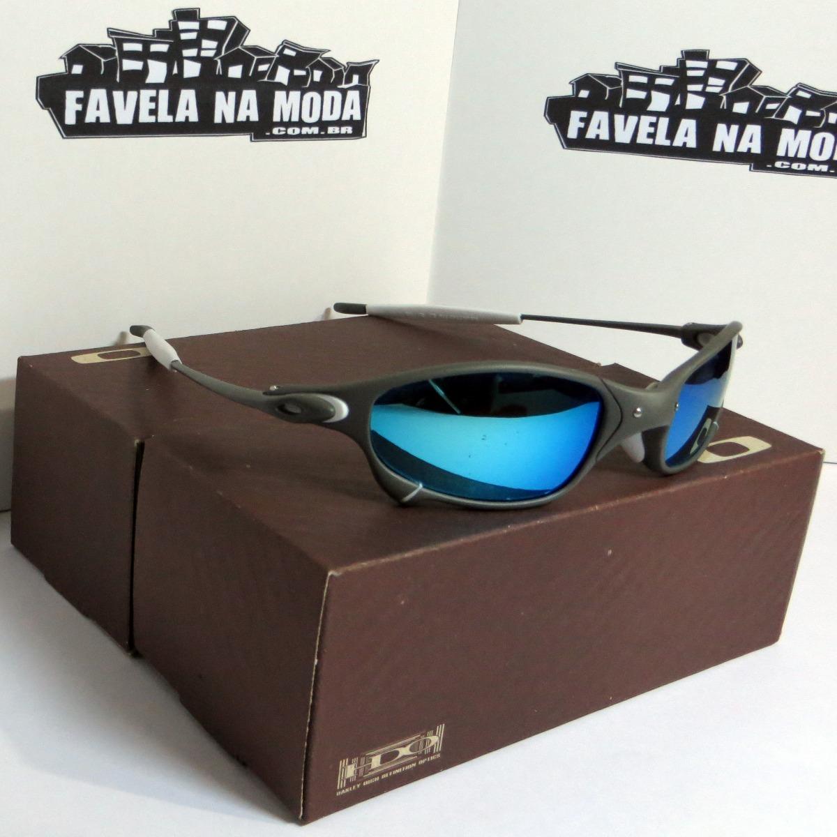 óculos oakley juliet   xmetal   ice thug   branca + lentes. Carregando zoom. e99e447d46