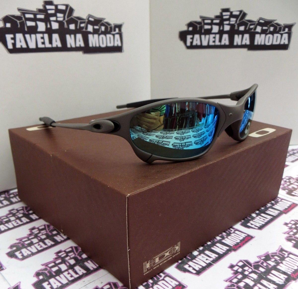 óculos oakley juliet   xmetal   ice thug + par de lentes. Carregando zoom. f7c2c48edd