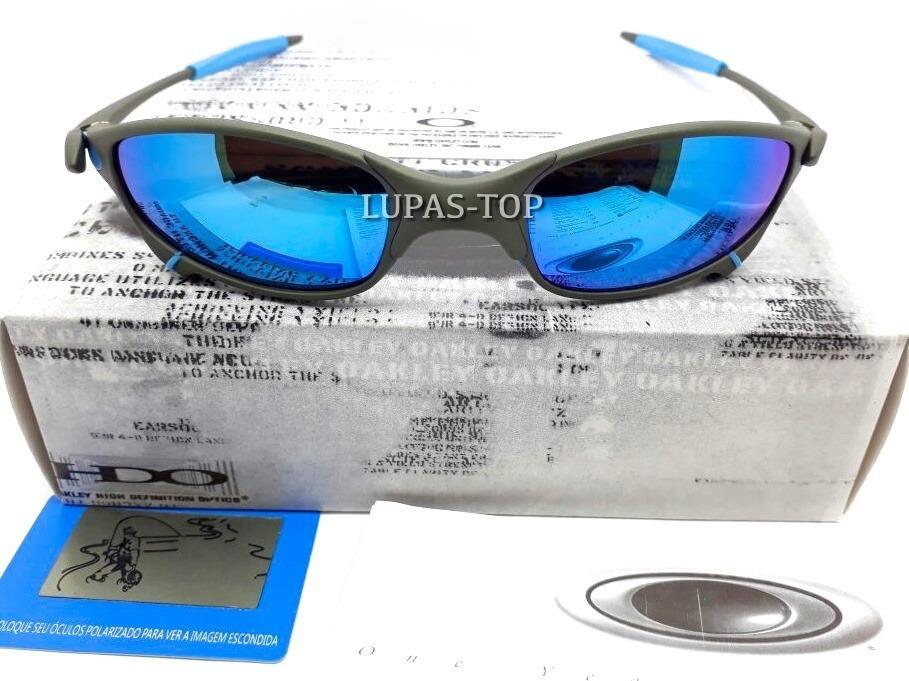 0bc5d892c óculos oakley juliet xmetal lente azul bebe e borrachas azul. Carregando  zoom.