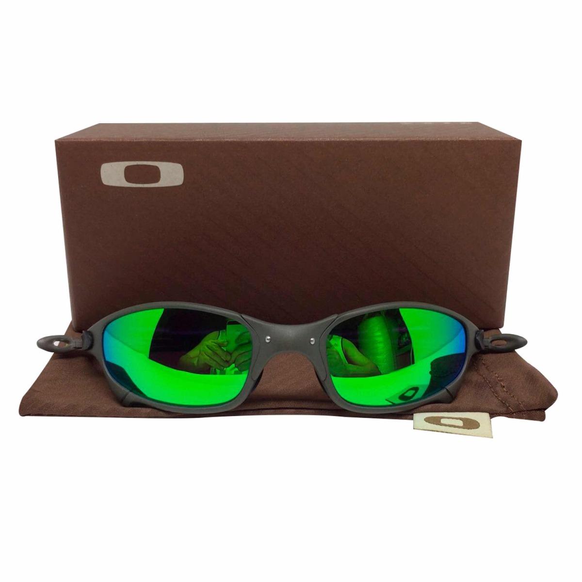 82e112694 oculos oakley juliet xmetal lente verde g26 polarizadas. Carregando zoom.