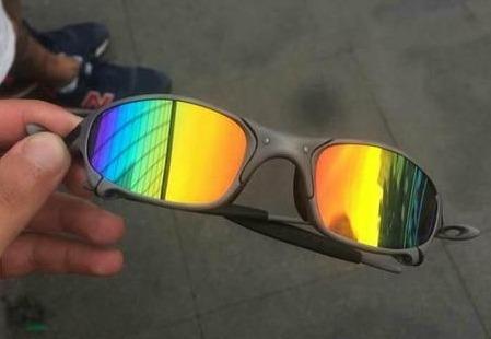 Óculos Oakley Juliet Xmetal - Lentes Arco Iris - Novo - R  149 df40c70f2df