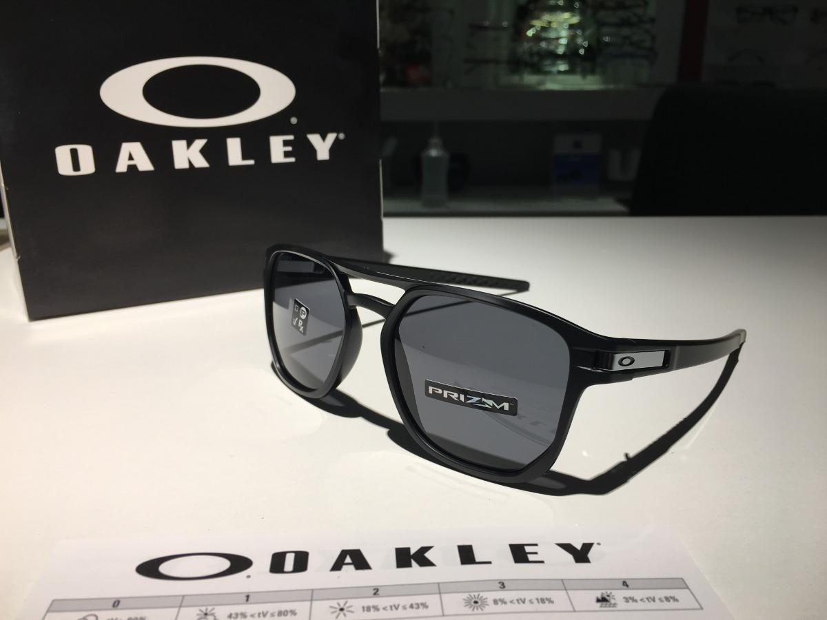 bb353e2730 Oculos Oakley Latch Beta Matte Black Lente Prizm Grey - R$ 459,00 em ...