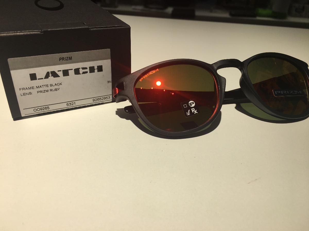53a40b9fafd óculos oakley latch matte black lente prizm ruby original. Carregando zoom.