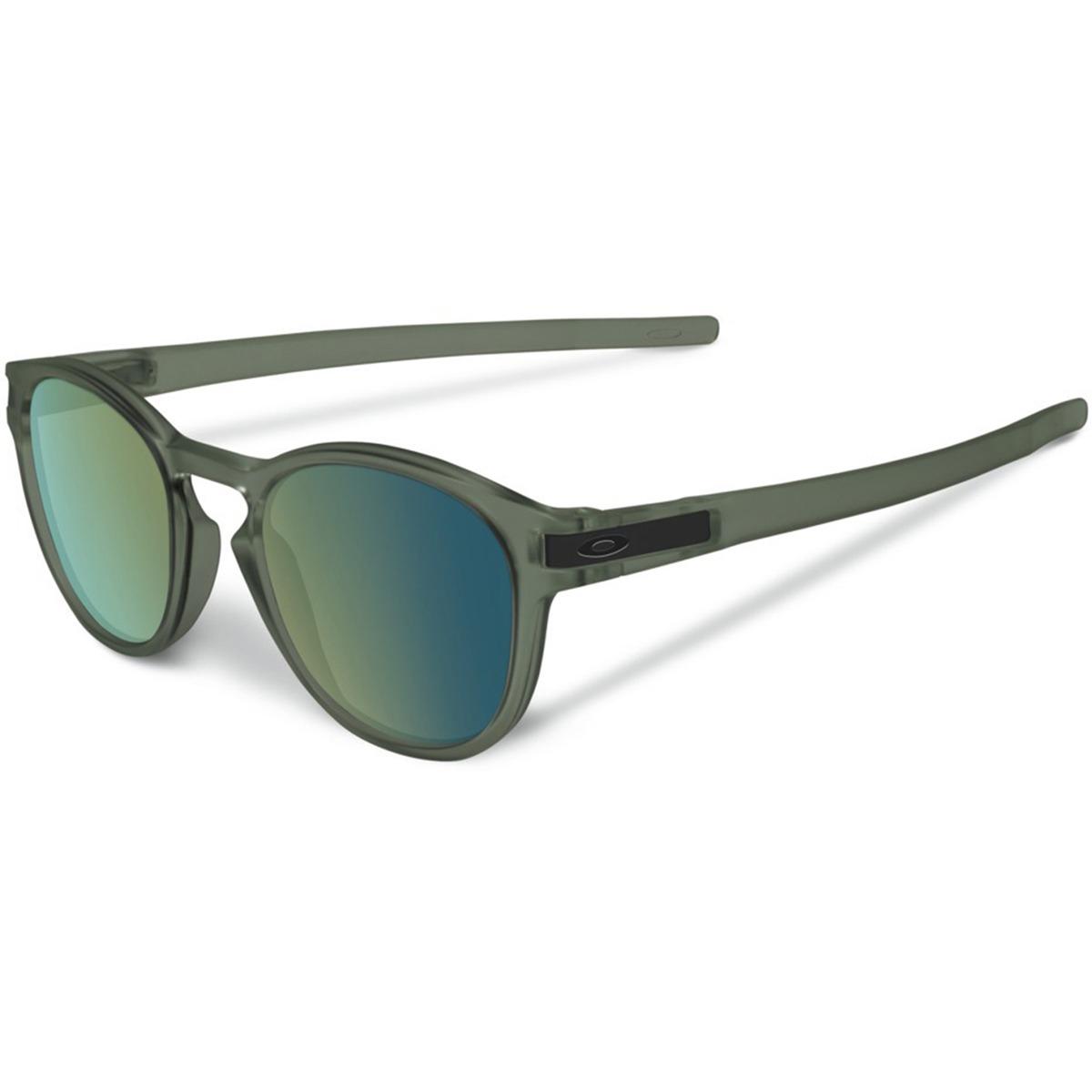 5836b725dc6cd óculos oakley latch matte olive ink lente emerald iridium. Carregando zoom.
