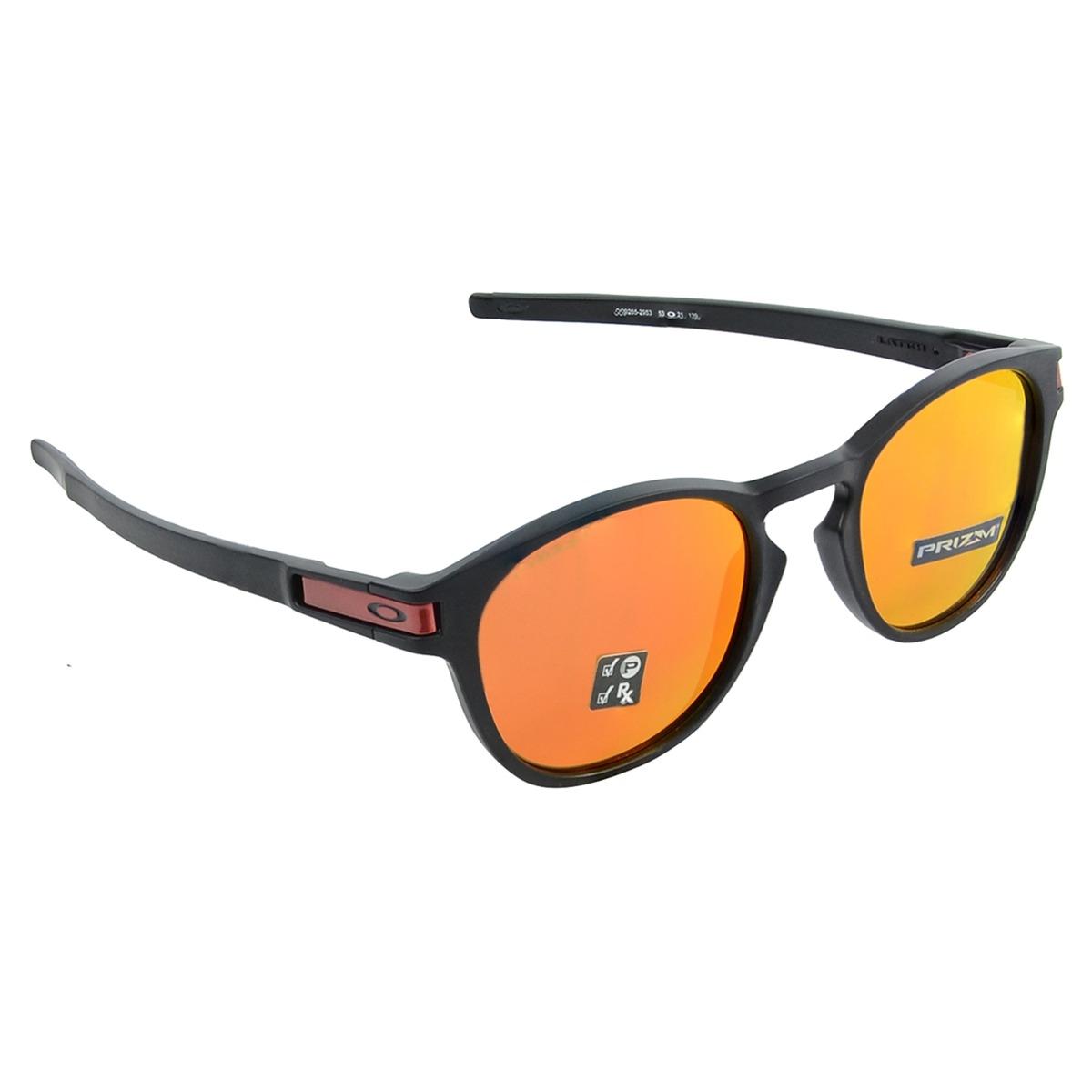 13fb0781af5e3 Óculos Oakley Latch Matte Preto Rubi - R  580
