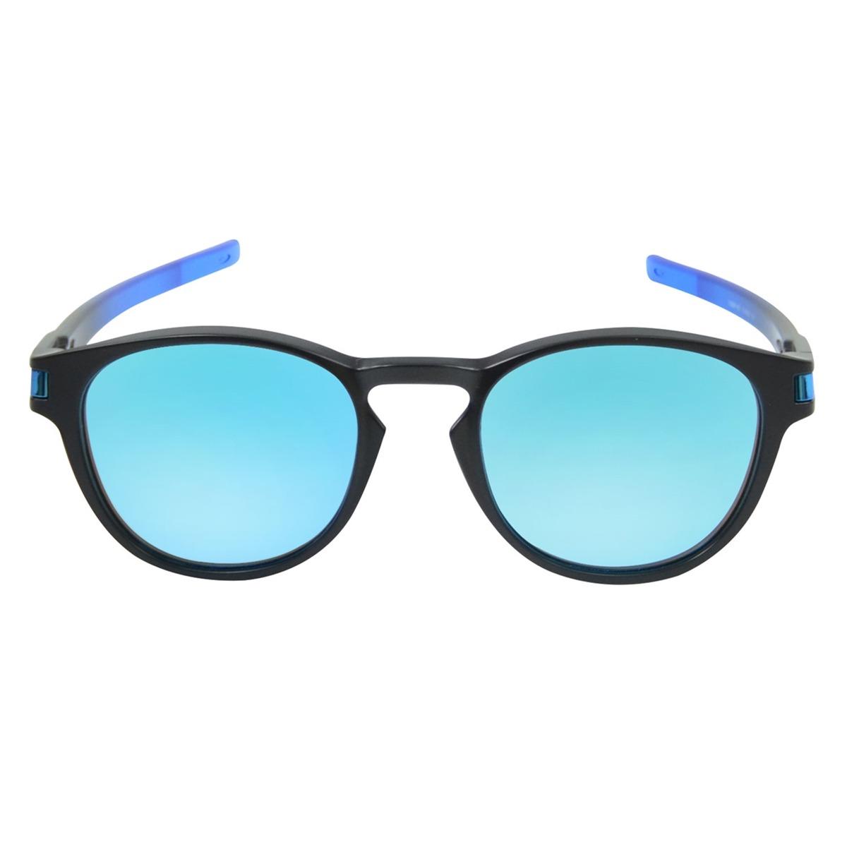 Óculos Oakley Latch Prizm Espelhado Preto L Azul - R  670,00 em ... 5bf0a72321