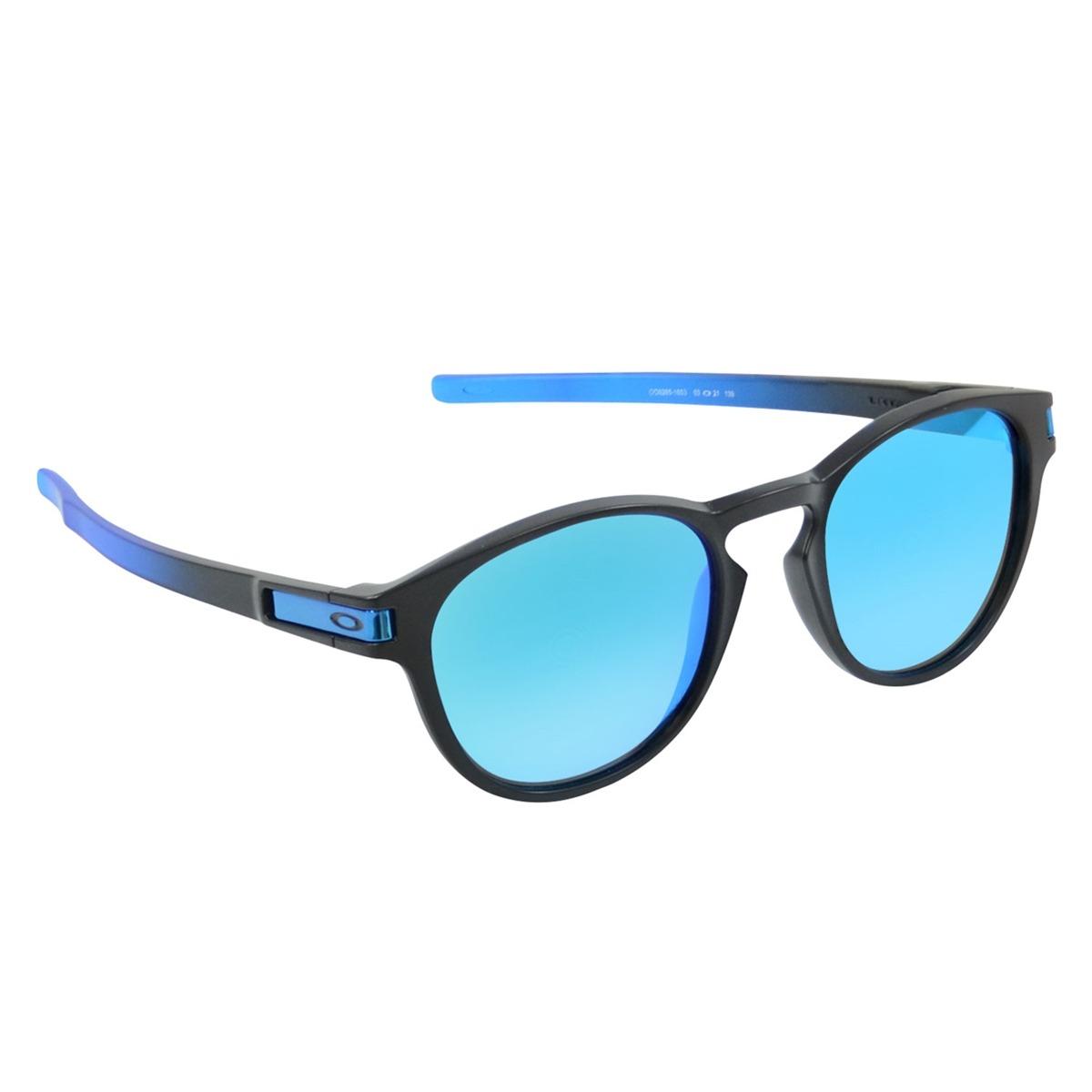 520cc115fb óculos oakley latch prizm espelhado preto l azul. Carregando zoom.