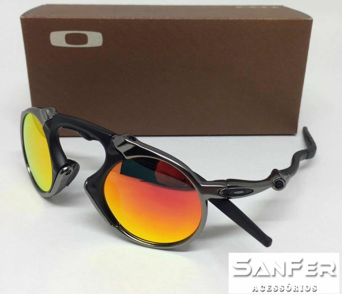 fc53c5fffc26f Oculos Oakley Madman Lente Vermelha - R  170,00 em Mercado Livre