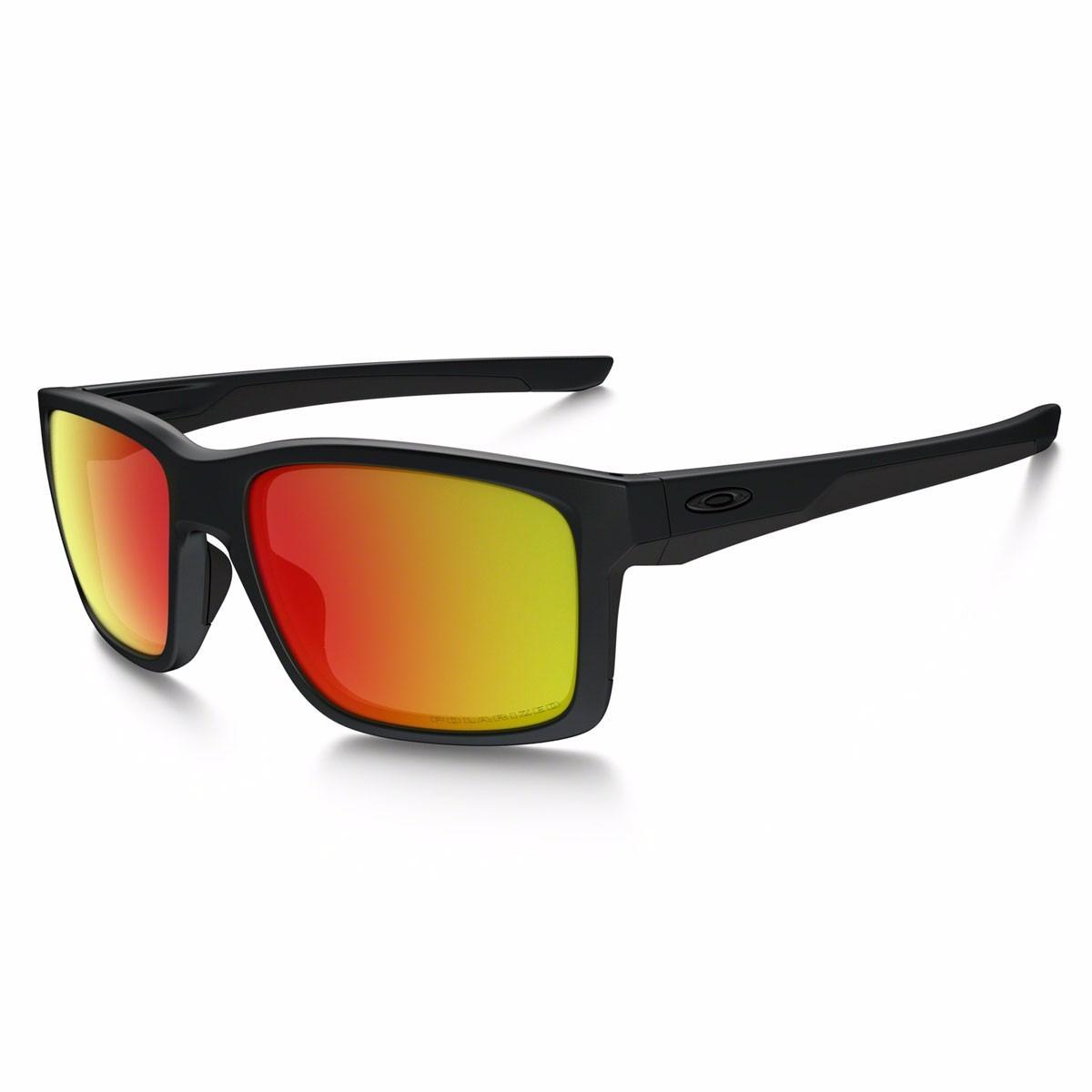 9ebc2259b8d25 Óculos Oakley Mainlink Matte Black   Ruby Iridium Polarized - R  660 ...