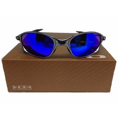 5397d0c2b Oculos Oakley Metal 24k Double X Squared Juliet Magic Blue - R$ 179 ...