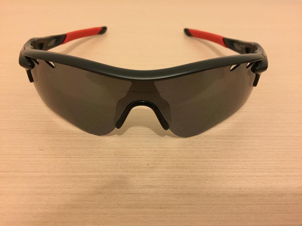 óculos oakley original radarlock path vented red iridium p. Carregando zoom. b18274c494