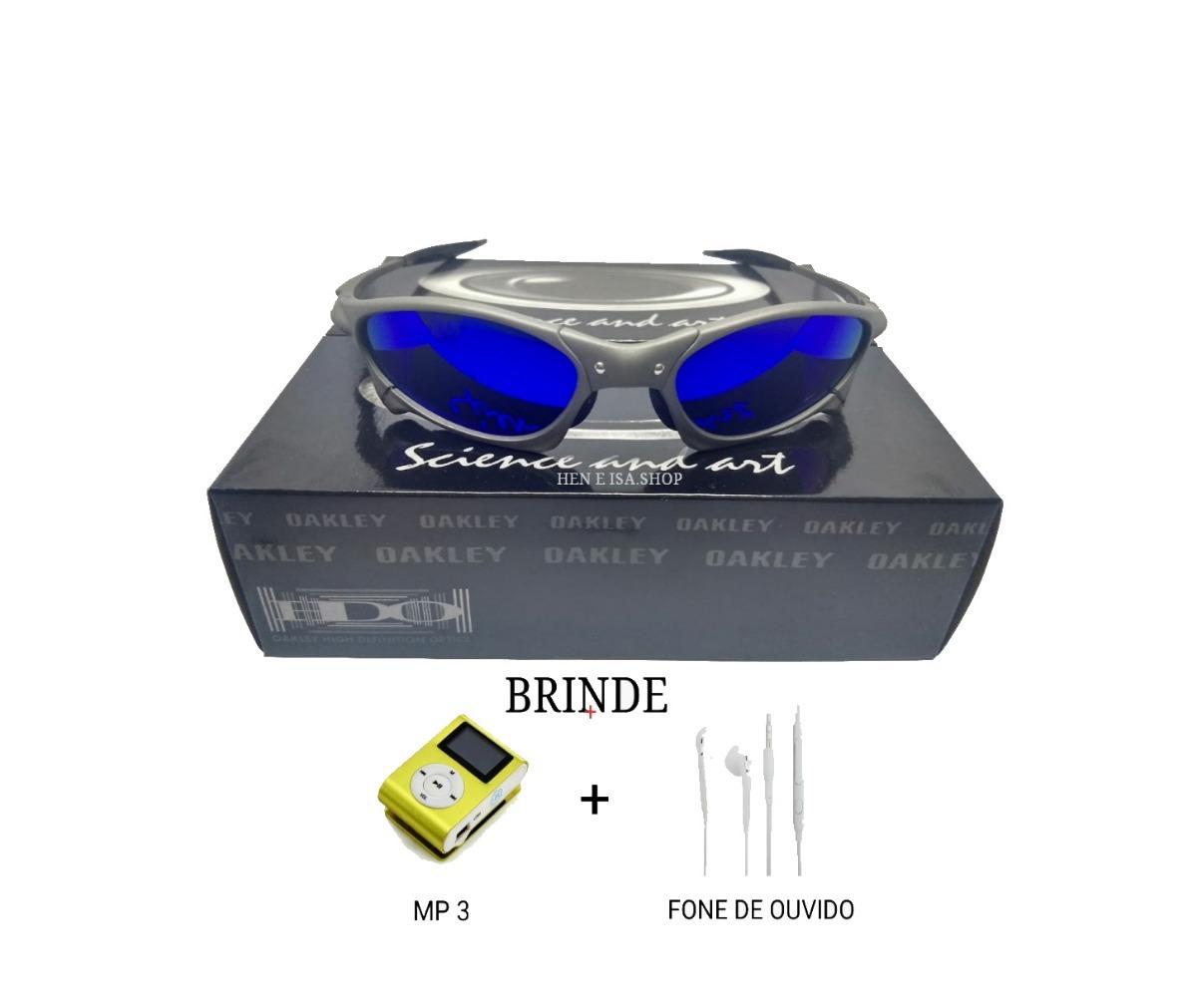 e807bd53100ff oculos oakley penny azul escura + teste+mp3+fone+frete. Carregando zoom.