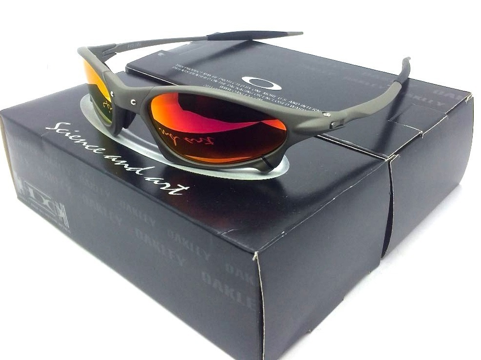 df1628d25e1ee Oculos Oakley Penny X Metal Fire Red+ Lente Extra+ Kit Chave - R ...