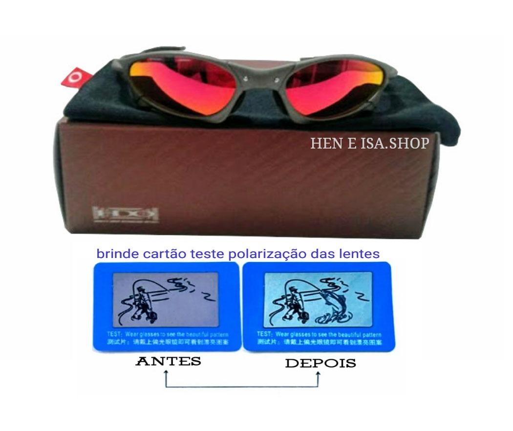 1b7875b0b4dfe Oculos Oakley Penny X-metal Ruby +certificado+teste - R  85,00 em ...